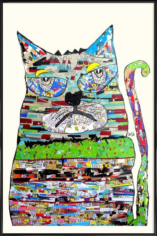 jam cat Framed Poster