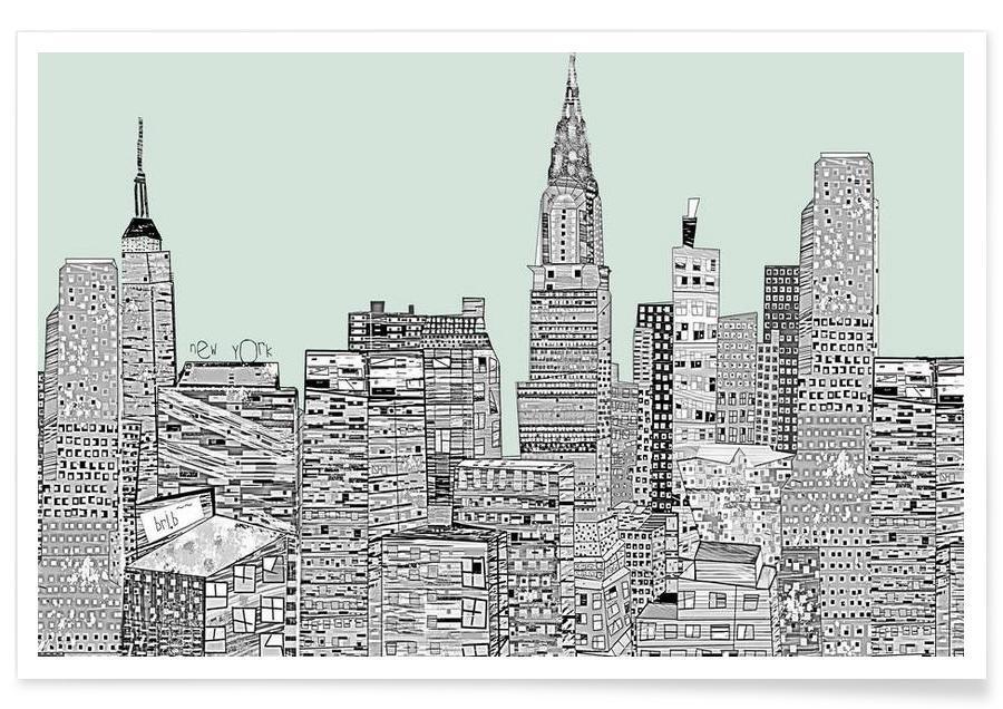 New York, new york vintage poster