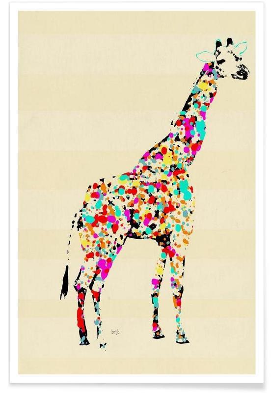 Girafes, the art giraffe affiche