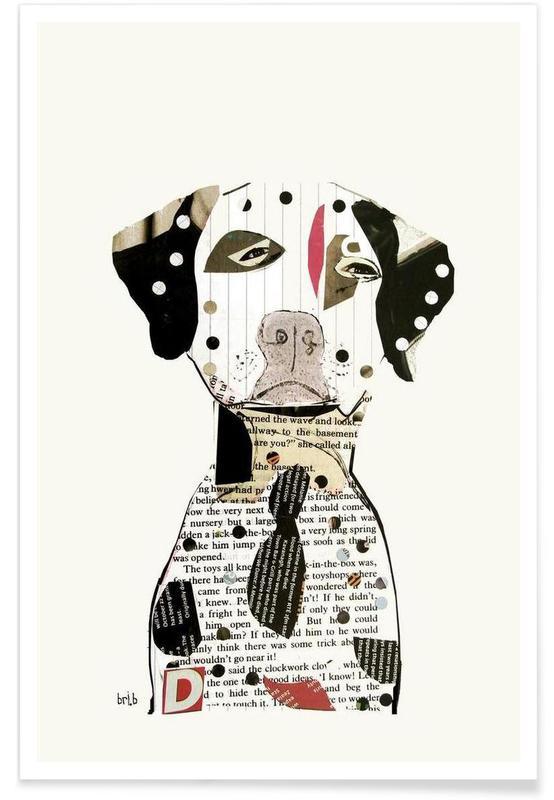 Chiens, dalmatian affiche