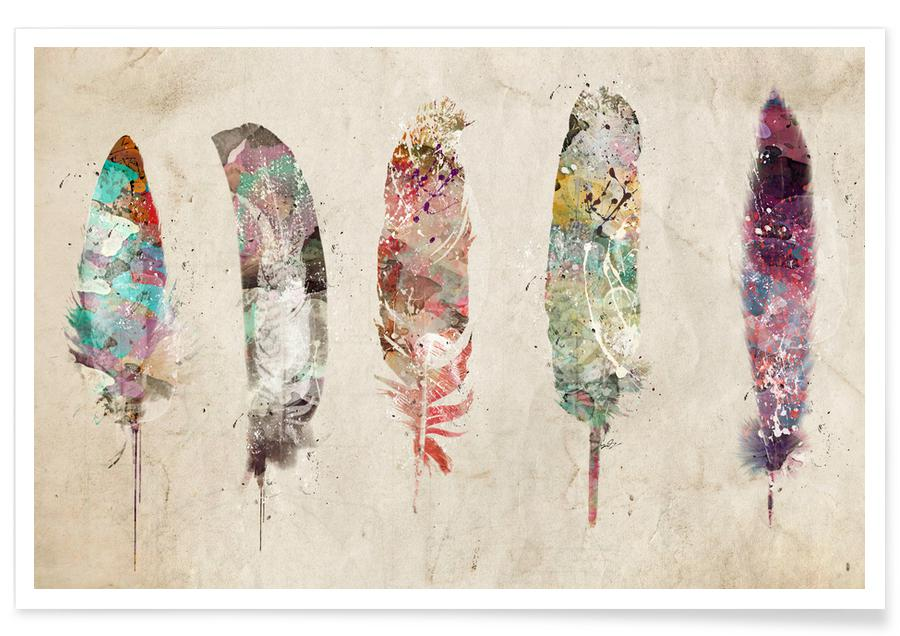 Feathers, Pop Art Feathers Poster