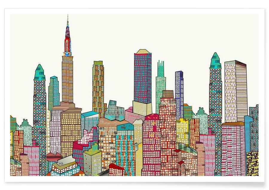 New York, new york living affiche