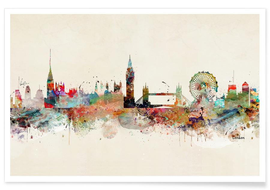 Londres, London affiche