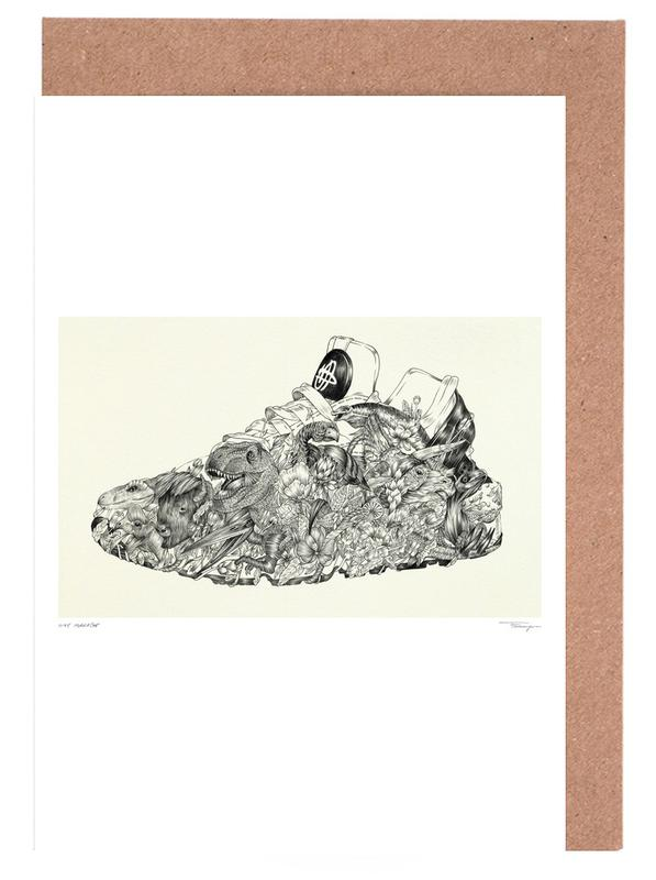 Black & White, Fashion Illustrations, Huarache Greeting Card Set