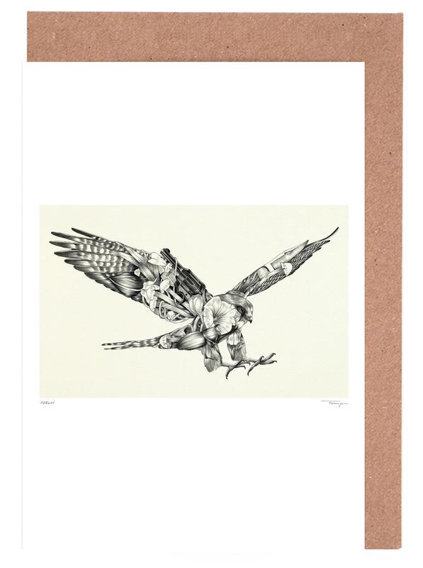 Noir & blanc, Aigles, Merlin cartes de vœux