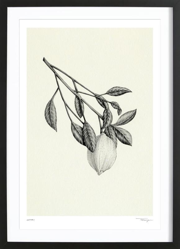 Lemon -Bild mit Holzrahmen