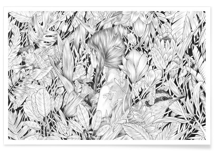 Schwarz & Weiß, Traumwelt, Camouflage -Poster