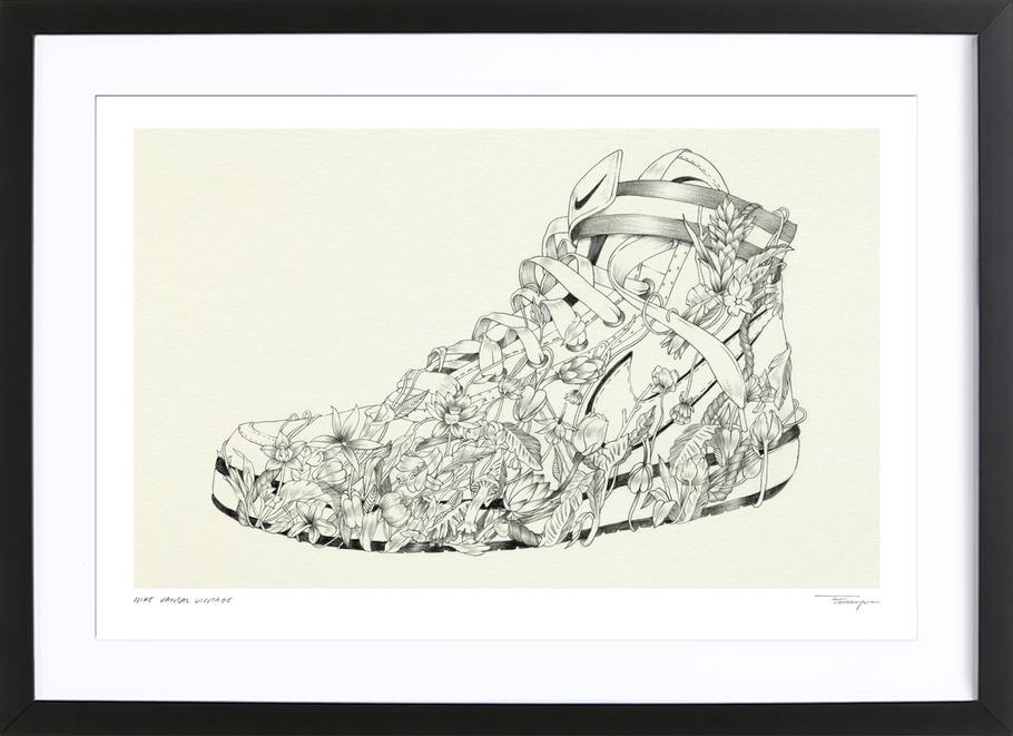 Nike Vandal Vintage Framed Print