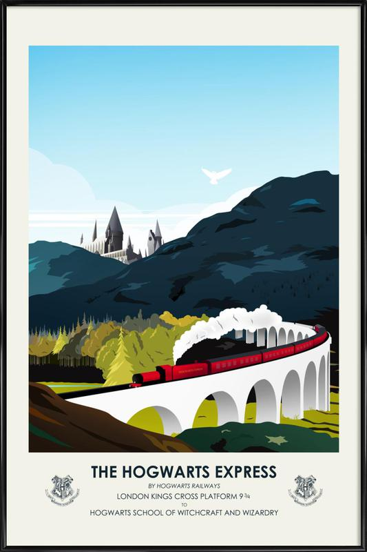 Hogwarts Express -Bild mit Kunststoffrahmen