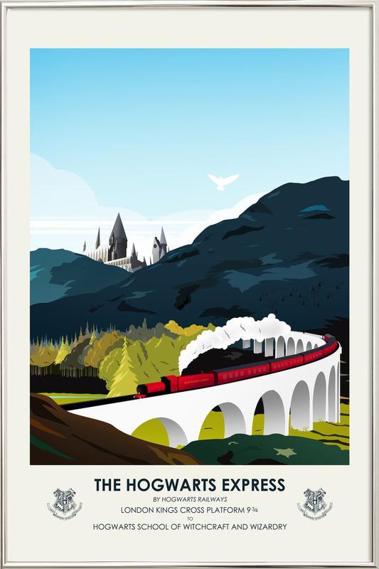 Hogwarts Express poster in aluminium lijst