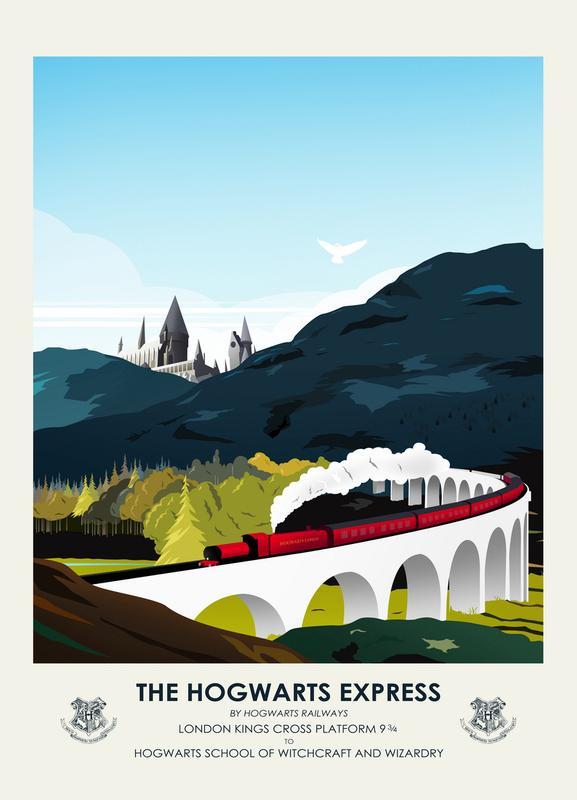 Hogwarts Express canvas doek
