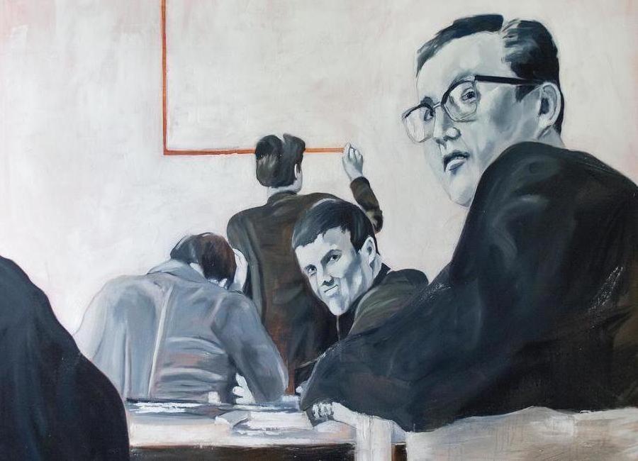 Die Arbeit der Zeit- Johnny Trotz und die Quadratur des Kreises Canvas Print