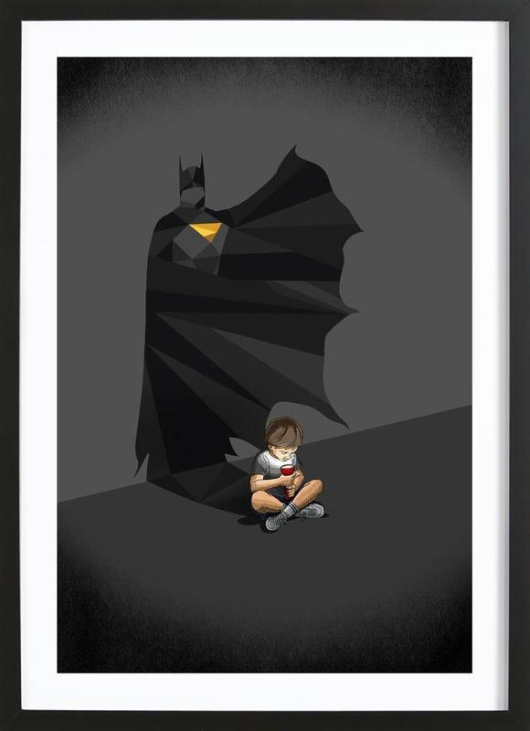 Walking Shadow - Hero 2 Framed Print