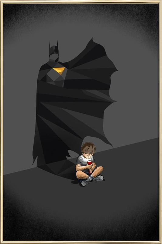 Walking Shadow - Hero 2 poster in aluminium lijst