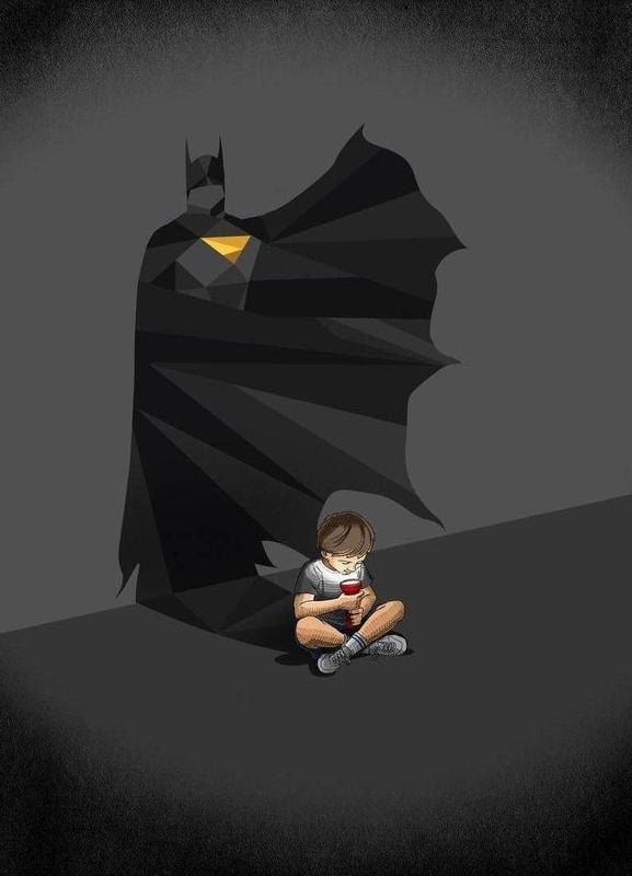 Walking Shadow - Hero 2 -Leinwandbild