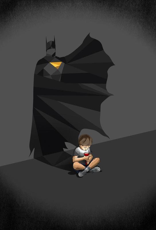 Walking Shadow - Hero 2 Impression sur alu-Dibond