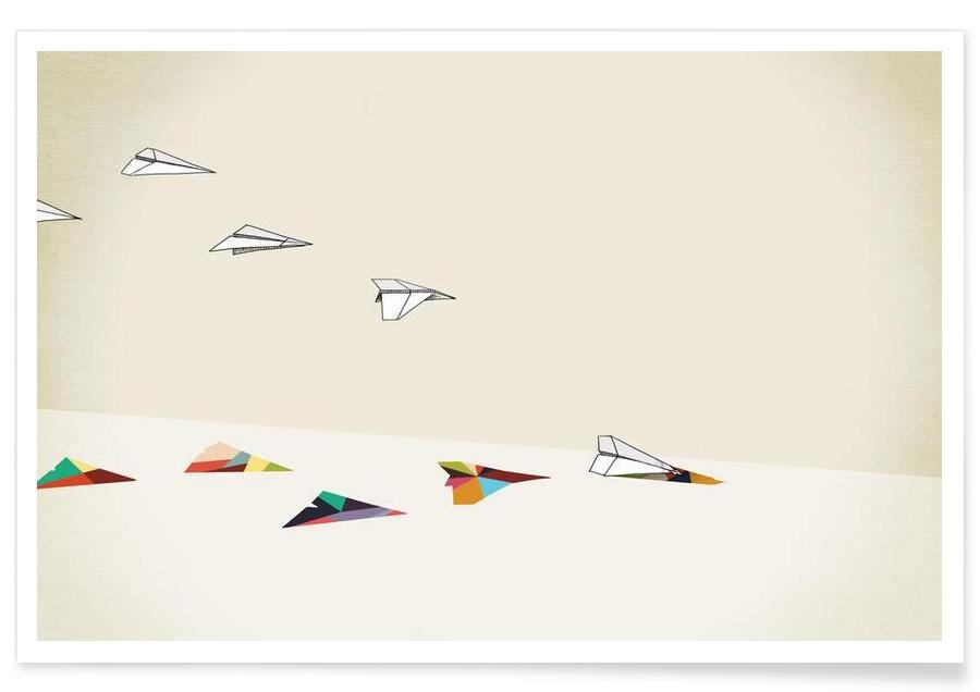 Walking Shadow - Paper Planes -Poster