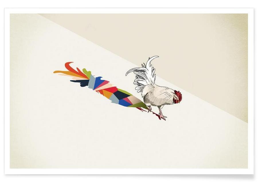, Walking Shadow - Rooster Plakat