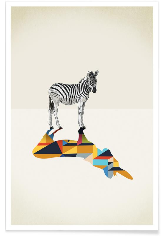 Walking Shadow - Zebra -Poster