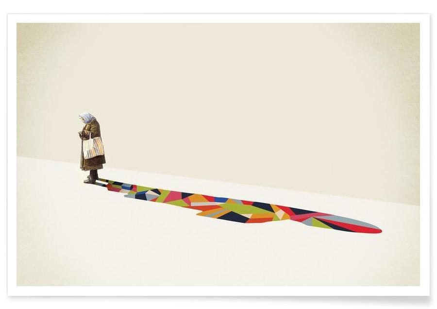Walking Shadow - Old Woman affiche
