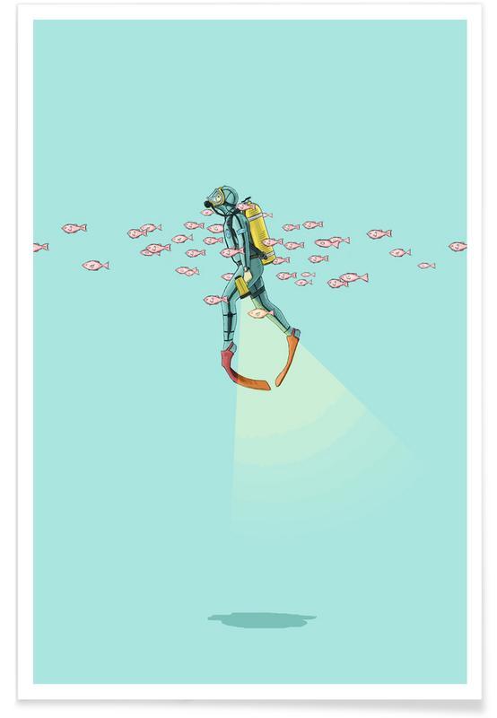 Nursery & Art for Kids, Float Under the Sea Poster
