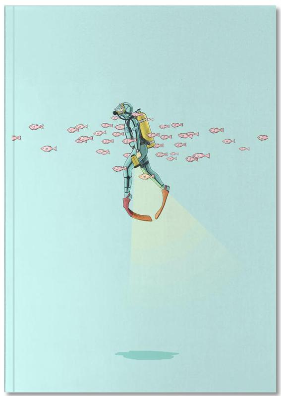 Kinderzimmer & Kunst für Kinder, Float Under the Sea Notebook