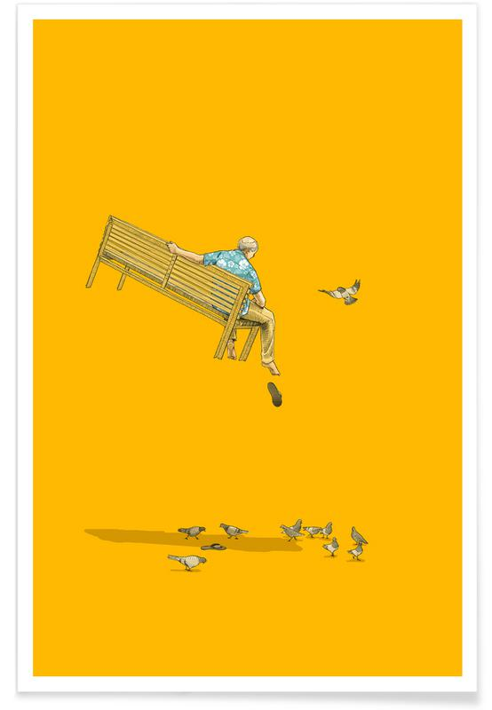 , Float With the Pigeons -Poster