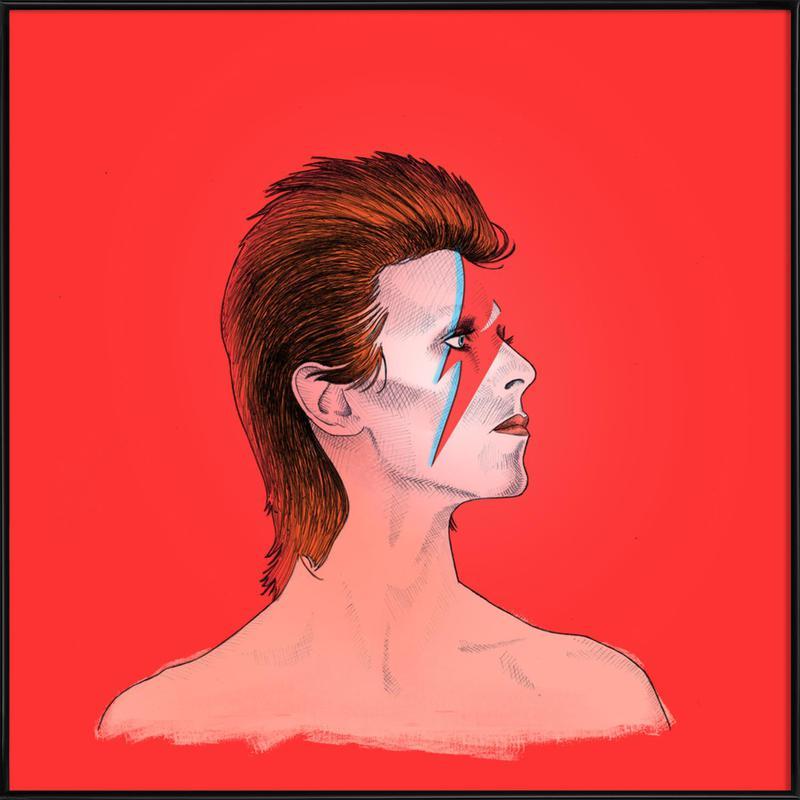 Ziggy Stardust ingelijste poster