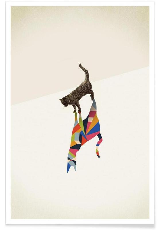 Walking Shadow - Cat -Poster