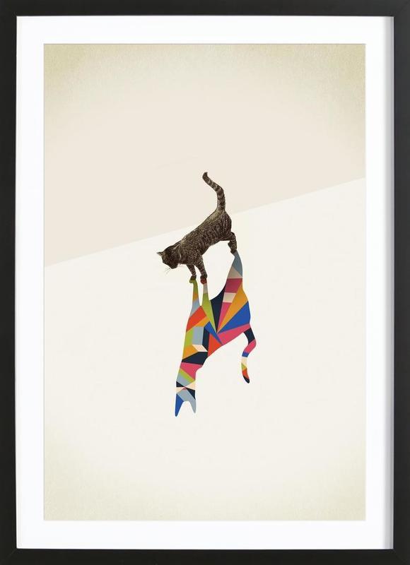 Walking Shadow - Cat Framed Print