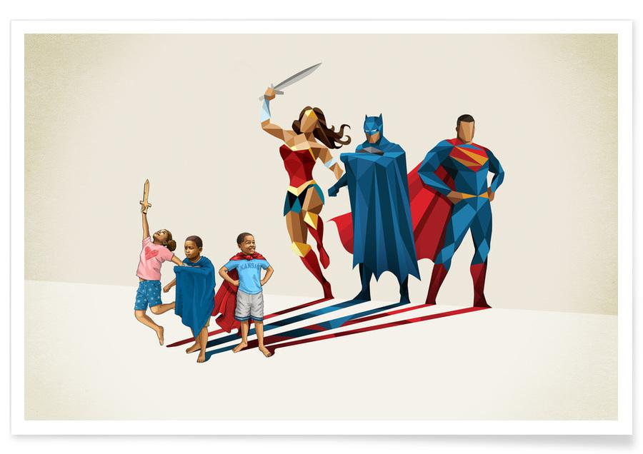 Kunst voor kinderen, Super Shadows Trinity poster
