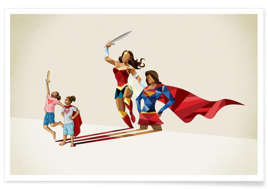 Art pour enfants, Super Shadows Sisters In Arms affiche