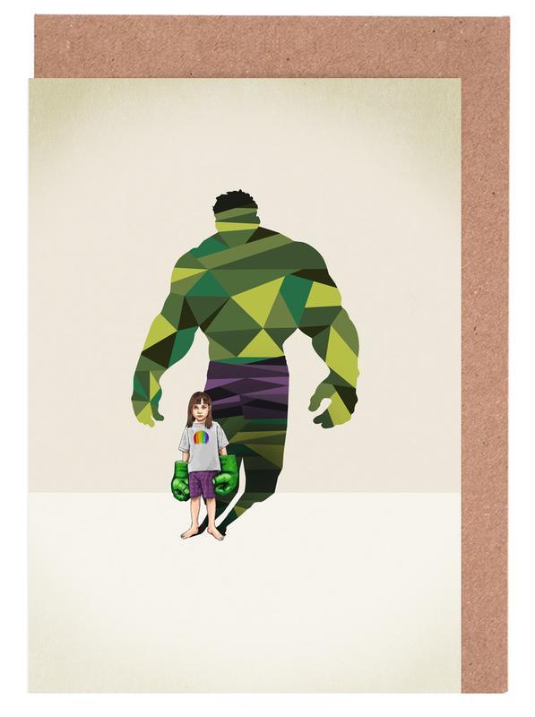 Nursery & Art for Kids, Super Shadows Girl Smash Greeting Card Set