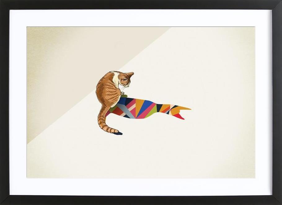 Walking Shadow - Cat 2 Framed Print