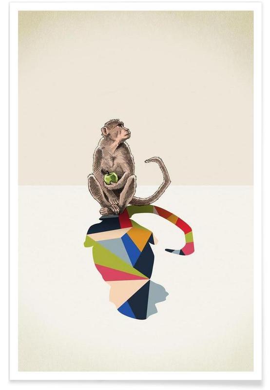 Aber, Walking Shadow - Monkey Plakat