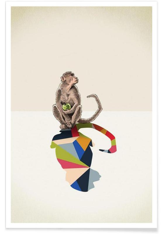 Walking Shadow - Monkey -Poster