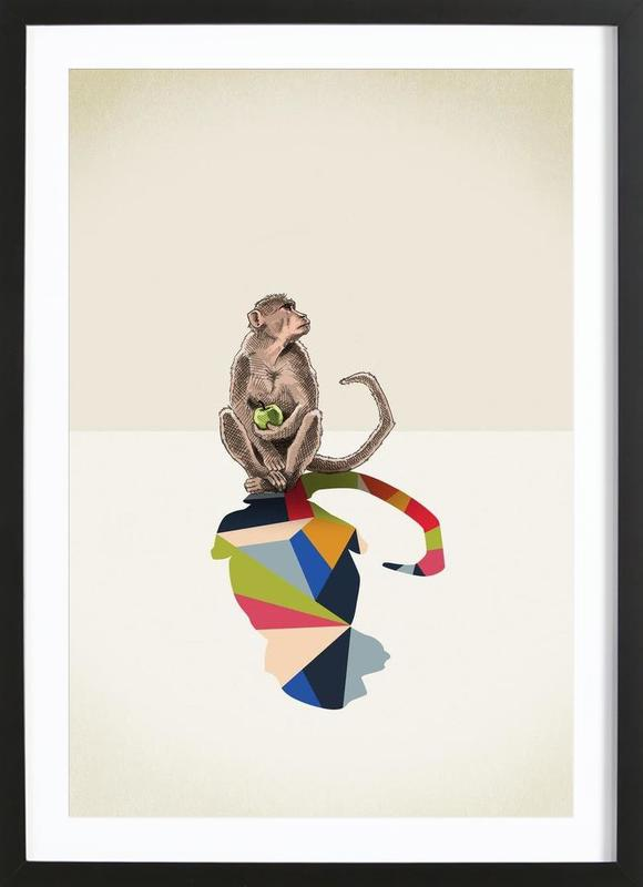 Walking Shadow - Monkey Framed Print