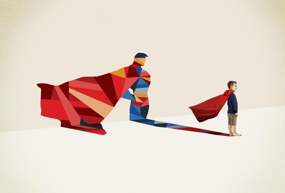 Walking Shadow - Hero 1 Acrylic Print