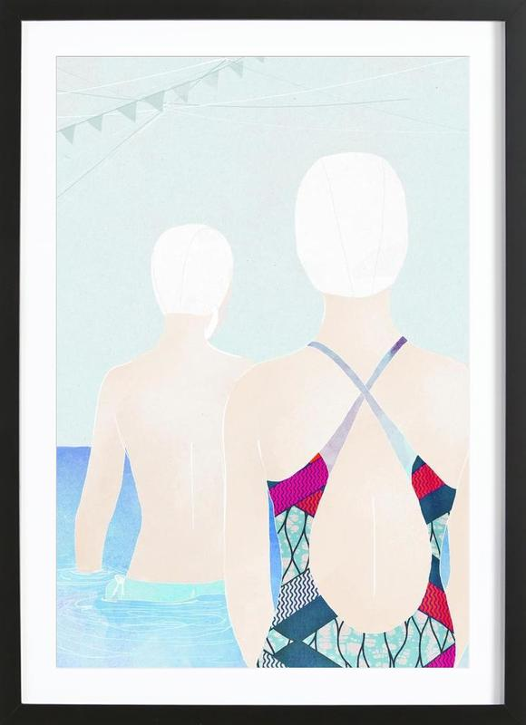 Swimmers Framed Print