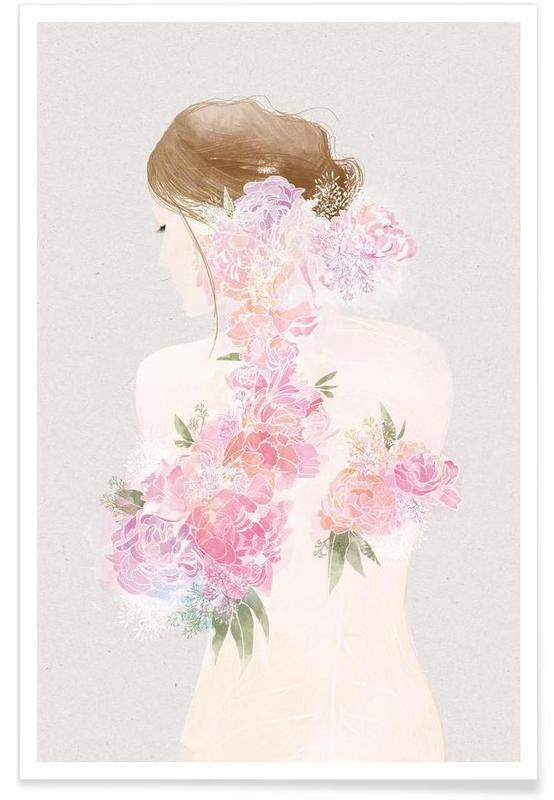 La Fille Fleur -Poster
