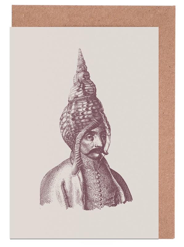 Portraits, Vintage, Haute Coiffure /#1 Greeting Card Set