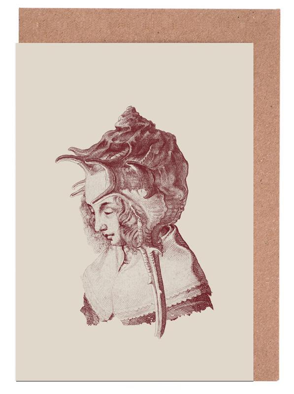 Portraits, Vintage, Haute Coiffure /#7 Greeting Card Set