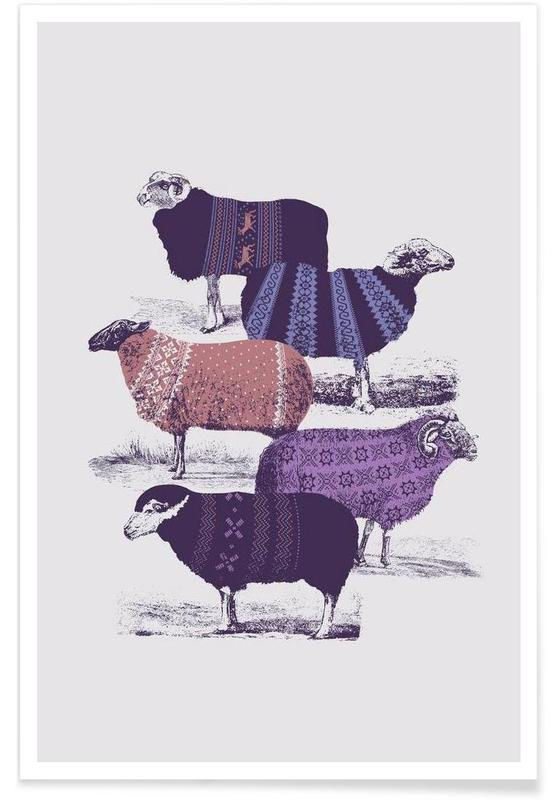 Sheep, Cool Sweaters Poster