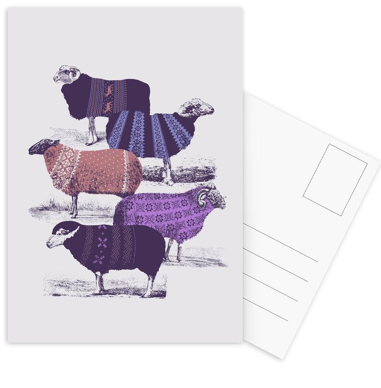 Cool Sweaters Postcard Set