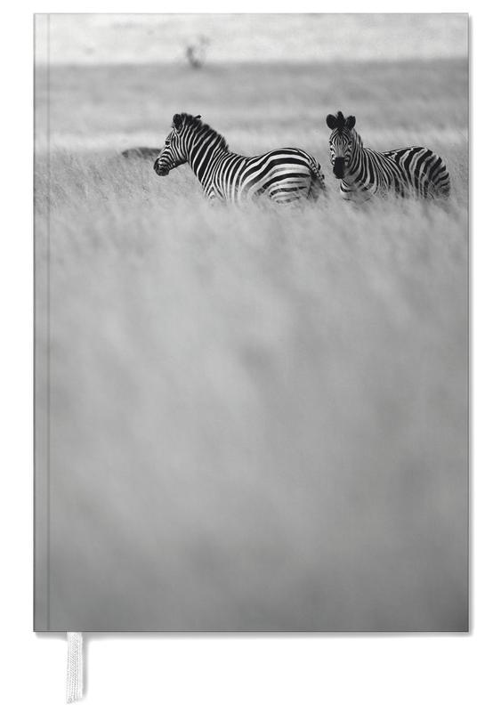 Black & White, Safari Animals, Zebra Pair Personal Planner