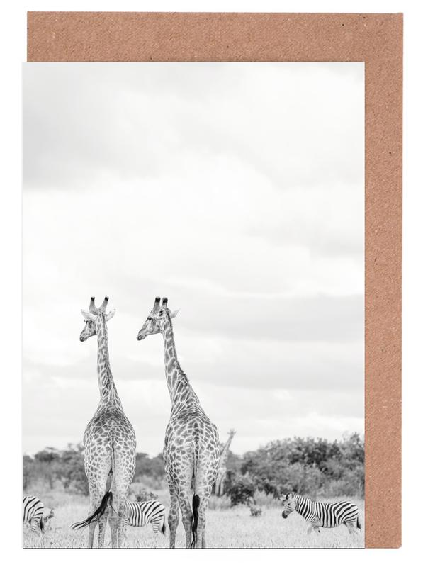 Giraph couple Greeting Card Set