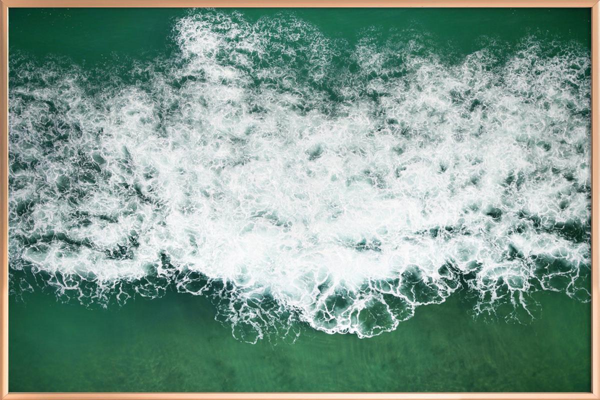 Wavescapes 01 -Poster im Alurahmen