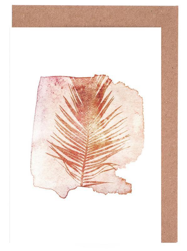 Pressed Cycas -Grußkarten-Set