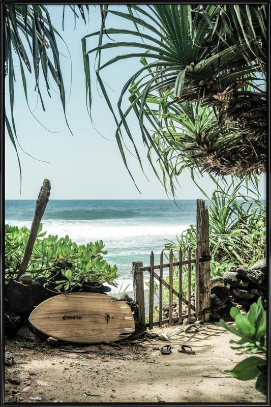 Stranden, Secret Beach ingelijste poster