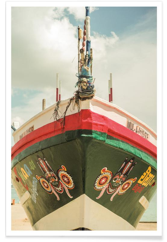 Boats, Indian Summer Poster